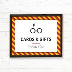 Harry Potter Gryffindor Favors Printable Party Sign by CrissyDesignCo