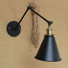 Retro Two Swing Arm Wall Lamps For Bedroom Bedside Adjule Mount Lights Abajur Para Quarto De Cabeceira Sconces In From
