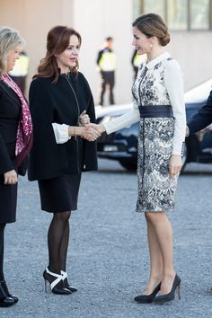Royals & Fashion - Queen Letizia attended the ceremony of the Spanish flag at the National Police which took place in Madrid.