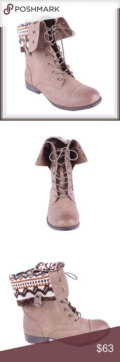 """NWT Lace up combat boots 🎉WINTER """"GO AWAY"""" SALE/ 30% off bundles!🎉  ➖NWT IN BOX ➖SIZE: 6, 7 ➖STYLE: military style lace up combat boots in taupe  ❌NO TRADE 215421 Shoes Combat & Moto Boots"""
