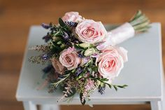 Pale Pink Rose Bouquet Bridal Bride Flowers Soft Whimsical Natural Rustic Wedding http://emilyhannah.com/