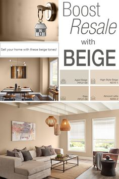 FAQ: Boost Resale with Beige! - Colorfully BEHR Beige is a versatile color that will provide a harmonious backdrop, setting the stage for furnishings and decor. This hue evokes warmth, tr Beige Paint Colors, Beige Color Palette, Room Paint Colors, Paint Colors For Home, House Colors, Living Room Decor Colors, Bedroom Colors, Interior Design Living Room, Beige Living Rooms