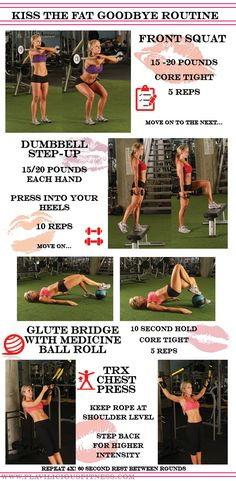 Say Goodbye to that fat! This year you are going to be a new you! Give this a share! And go here for more workouts: http://www.flaviliciousfitness.com/blog/2015/01/07/fat-loss-workout-routine/