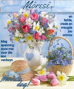 Discover recipes, home ideas, style inspiration and other ideas to try. Morning Greetings Quotes, Good Morning Messages, Good Morning Wishes, Good Morning Images, Good Morning Quotes, Happy Birthday Smiley, Lekker Dag, Evening Greetings, Afrikaanse Quotes