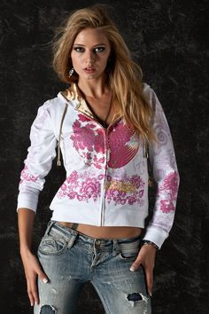 Buddha with Flowers Women Hoodie Glam Rock Urban Wear Jacket sold by Charles King Paris. Shop more products from Charles King Paris on Storenvy, the home of independent small businesses all over the world. Rock Outfits, Trendy Outfits, Unique Hoodies, Zip Up Hoodies, Glam Rock, T Shirts For Women, Clothes For Women, Zip Ups, Girl Fashion