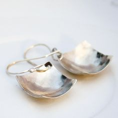 Handmade sterling silver square earrings by BlueberryCream on Etsy, $24.00