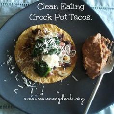 Clean Eating Crock Pot Chicken Tacos