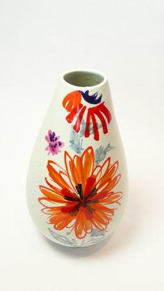 1950s Italy Mid-Century Modern Raymor Pottery Vase by Alvino Bagni. $285.00, via Etsy.
