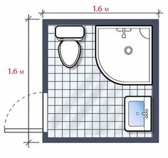 A small bathroom is a great challenge to every interior designer because he/she needs to be very focused and innovative here(Small Bathroom Space Small Bathroom Floor Plans, Small Bathroom Layout, Tiny House Bathroom, Steam Showers Bathroom, Basement Bathroom, Bathroom Flooring, Bathroom Interior, Master Bathroom, Master Baths