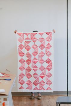 @Emma Robertson's traveling stamp, applied to a scarf by @Jessica Comingore.
