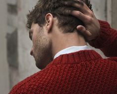 knit.red.sweater.beard. yes.