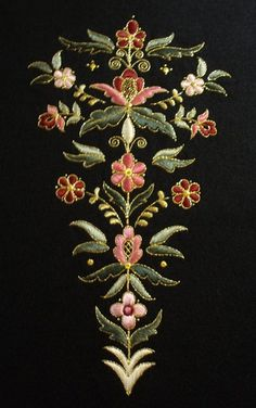 Jacobean Embroidery, Chinese Embroidery, Hand Embroidery Videos, Embroidery Motifs, Gold Embroidery, Machine Embroidery, Embroidery Designs, Embroidered Badges, Gold Work