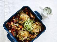Opskrift på kylling med jordkokker og rødbeder