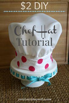 $2 DIY Chef Hat Tutorial
