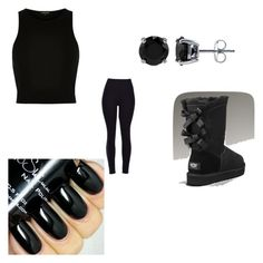 feleling on black by lorenzia14 on Polyvore featuring polyvore косметика BERRICLE River Island UGG Australia