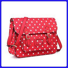 Miss Lulu Pu Leather Large Cambridge Stlye Satchel Bag (RED) - Top handle  bags ( Amazon Partner-Link) 604908c520e9c