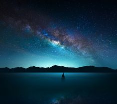 Blue earth milky way ocean sailboat sea sky starry sky stars wallpaper. Beautiful Sky, Beautiful Landscapes, Beautiful World, Beautiful Places, Pretty Sky, Ciel Nocturne, Image Nature, Star Wallpaper, Night Sky Wallpaper