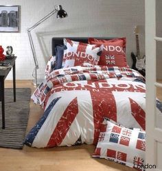 British style maybe? British Decor, British Style, My New Room, My Room, Union Jack Decor, British Things, Uk Flag, Bed Spreads, Bedding Sets