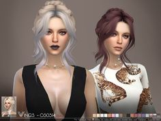 Sims 4 CC's - The Best: Female Hair by Wingssims