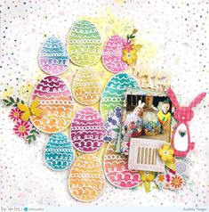 Easter Layout by Audrey Yeager