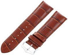 Hirsch 010280-70-24 24 -mm Genuine Leather Alligator Embossed Armbanduhr Strap - http://uhr.haus/hirsch-17/hirsch-010280-70-24-24-mm-genuine-leather-embossed