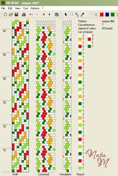 Мої схеми бісерних жгутів – Malena z – Picasa Web Albums Crochet Bracelet Pattern, Crochet Beaded Bracelets, Bead Crochet Patterns, Seed Bead Patterns, Beaded Bracelet Patterns, Peyote Patterns, Beading Patterns, Spiral Crochet, Bead Crochet Rope