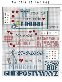 Gallery.ru / Фото #9 - GALERIA DE MOTIVOS - KIM-2 Cross Stitch Alphabet, Cross Stitch Baby, Cross Stitching, Cross Stitch Embroidery, Baby Kind, Hama Beads, Needlework, Diy And Crafts, Projects To Try