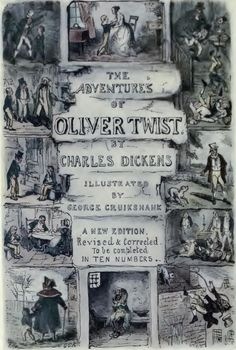 Title page of Oliver Twist, illustrated by George Cruikshank. Oliver Twist, Romance, Title Page, Framed Prints, Canvas Prints, Book Quotes, A4 Poster, Poster Size Prints, Online Printing