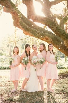 Loved these bridesmaid's pink dresses at the Virginia Zoo in Norfolk, VA!