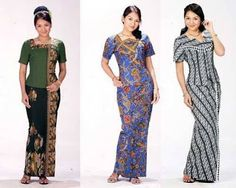 Model Baju Batik Kantor Wanita Berjilbab 7  KEBAYA  Pinterest
