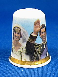 Wedding Clothes Charles And Diana Royal Wedding Thimble Porcelain. Click on the image for more information.