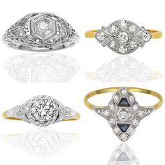 Art Deco Antique Engagement Rings Australia
