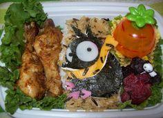 P-chan from Ranma Bento by chocobo-kisses Anime Bento, Kawaii Bento, Bento Box Lunch, Homemaking, Kisses, Good Food, Meals, Vegetables, Coffee