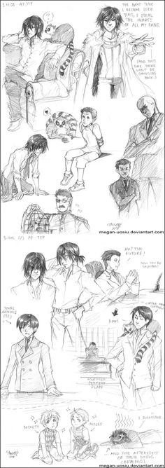 AF: TTP: Sketches 01 by Megan-Uosiu | Artemis Fowl, The Time Paradox sketches