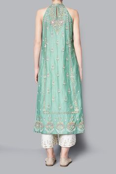 Designer suits - buy aasiya tunic with culottes for women online - ssm/ssm_sage - anita dongre Kurta Designs, Pattu Saree Blouse Designs, Kurti Designs Party Wear, Pakistani Dress Design, Pakistani Dresses, Indian Dresses, Designer Party Wear Dresses, Indian Designer Outfits, Indian Wedding Outfits