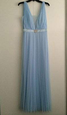 Windsor Lupita Light Blue Ice Blue Homecoming Dress Gown Size 9   eBay