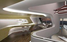 Küsnacht Villa - Architecture - Zaha Hadid Architects #Interior #SeamlessRoofWall
