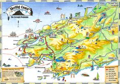 Map of the Skellig Coast with Cill Rialaig on Bolus Head by Ballinskelligs Bay.