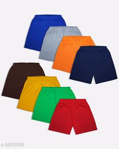 Checkout this latest Shorts & Capris Product Name: *Luke and Lilly Boy's Cotton Shorts Pack of 8* Fabric: Cotton Pattern: Solid Sizes:  4-5 Years, 5-6 Years, 6-7 Years, 7-8 Years Easy Returns Available In Case Of Any Issue   Catalog Rating: ★4.1 (866)  Catalog Name: Tinkle Stylish Kids Boys Shorts CatalogID_1613160 C59-SC1175 Code: 155-9256986-4971