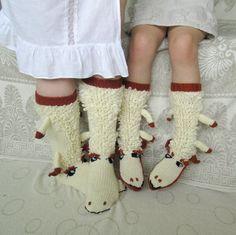 Christmas Sale Hand knit socks Knee high sheep от mymomsshop1