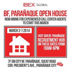 Ibex global recruitment urgently needs interns for our pasig and we will be having our very first open house event in our bf paraaque site stopboris Gallery
