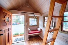 In this post you'll get to meet Teal from Wishbone Tiny Homes along with one of their 16′ long custom built tiny houses on wheels. When you go inside you'll find there's an …
