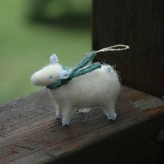 felt sheep ornament