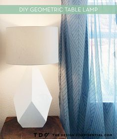 How To: Make an Over-Sized Geometric Table Lamp from Scratch » Curbly   DIY Design Community