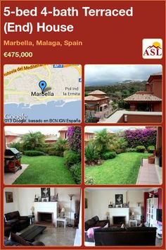 Terraced (End) House for Sale in Marbella, Malaga, Spain with 5 bedrooms, 4 bathrooms - A Spanish Life Semi Detached, Detached House, Marbella Malaga, Malaga Spain, Fitted Wardrobes, Santa Clara, Private Garden, Dressing Room, Terrace