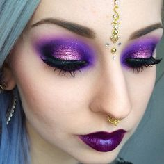 #ShareIG Détails des yeux plus tard / Eye details later || Lipstick is @limecrimemakeup Poisonberry