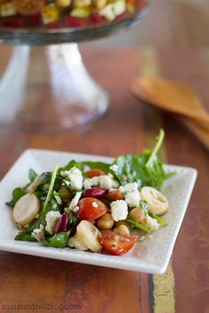 Two Bean Salad with Hearts of Palm and Blue Cheese