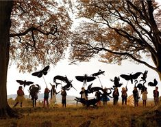 Children and silhouettes in the woods - Tim Walker