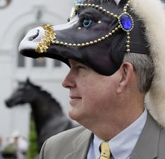 kentucky derby hats | ... horse head hat before the 2009 Kentucky Derby at Churchill Downs. (AP
