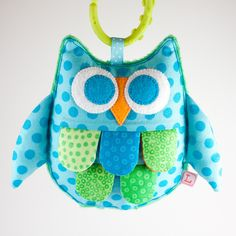 Here is the little blue owl softie that I finished today using the pattern that I drafted yesterday. These owls are done in 100% cotton pri...